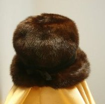 Image of Brown Mink Hat   Back    Jane Mueller