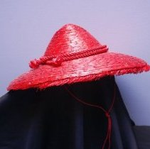 Image of Red Straw Hat   image 2    Jane Mueller