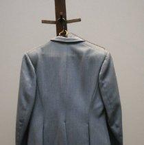 Image of Dust Blue Riding Suit   Back view.   Jane Mueller