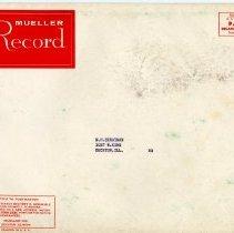 Image of Mueller Record Mailing Envelope  1957