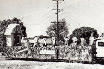 Image of Luke's Grape Day float, 1949