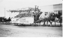 Image of free grape wagon in 1908