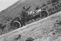 Image of automobile race-car going up Poway Grade