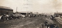 Image of Grape Day - Carriages Lined Up Along Grand Avenue, September 9, 1908