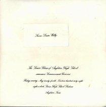 Image of Announcement, Graduation - 2005.002c.0008b