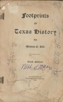 Image of Footprints of Texas History - Dill, Minnie G.