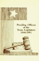 Image of Presiding Officers of the Texas Legislature 1846-1991 - Texas Legislative Council