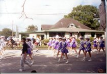 Image of Angleton High School Drill Team in 2002 Fair Parade