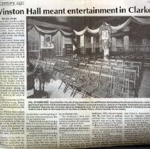 Image of 1991.00395.003 - Winston Hall Meant Entertainment in Clarke