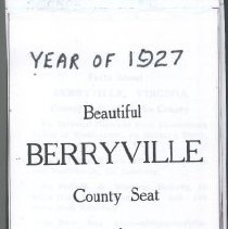 Image of 1997.00334.001 - Berryville & Clarke County-Chamber of Commerce Brochure, 1927
