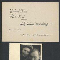 Image of 2004.00019.019 - Kaul, Erhard & Ruth-Wedding & Photo