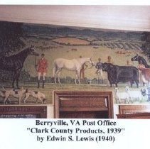 Image of 2004.00053.030.A - Berryville Post Office Mural by Edwin Lewis