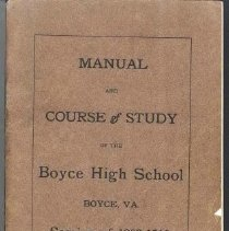 Image of 2006.00013.002 - Boyce High School-Course of Study, 1909-10
