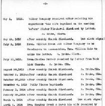 Image of Salem Baptist Church Records, p 3