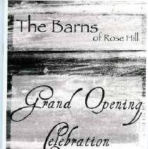 2011 00001 025 B Barns Of Rose Hill Grand Opening Program Sep 2011