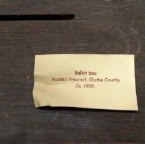 Image of Russell Precinct Ballot Box Label