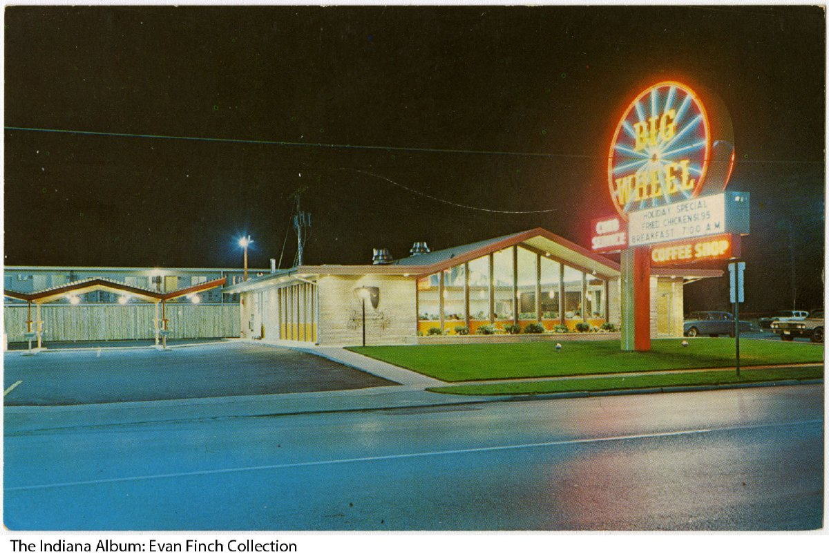 Postcard Of The Big Wheel Restaurant Gary Indiana Ca1965