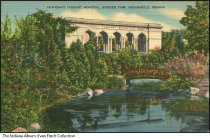 Image of Postcard of Taggart Memorial, Indianapolis, Indiana, ca. 1935 - View of the White River and the Thomas Taggart Memorial, constructed in Riverside Park in 1931.