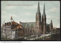 Image of Postcard of Sacred Heart Church, Indianapolis, Indiana, ca. 1915