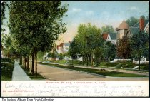 Image of Postcard of Morton Place, Indianapolis, Indiana, ca. 1908 - Postmarked April 24, 1908.