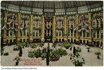 Image of Postcard of West Baden Springs Hotel, West Baden, Indiana, ca.1915 - Postcard of the rotunda in the West Baden Springs Hotel.