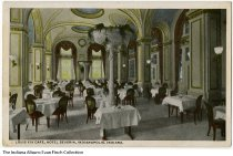 Image of Postcard of Louis XIV Cafe, Hotel Severin, Indianapolis, Indiana, ca.1915 - The back of this postcard of the Louis XIV Room at the Hotel Severin lists Harry B. Gates as its president. Harry B. Gates died in October of 1916.  The postcard has a copyright date of 1913. It also lists the location as facing Illinois, Georgia, and McCrea Streets.