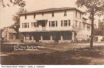 Image of Photo postcard of New Barbee Hotel, Big Barbee Lake, Warsaw, Indiana, ca. 1930 - Hotel and restaurant located between Little Barbee Lake and Big Barbee Lake in Kosciusko County.
