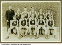 Image of Lafayette middle school basketball team, Lafayette, Indiana, ca. 1935 - Identified as Jefferson Junior High by lender. Includes Edward Horn who was born in 1922.