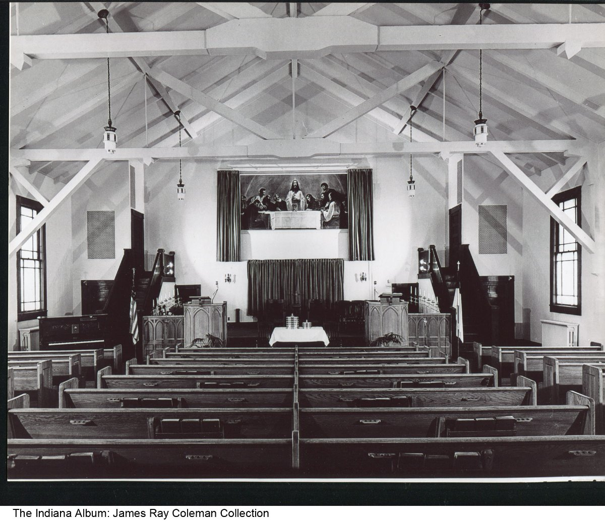 Interior Of The Indiana Avenue Christian Church South Bend