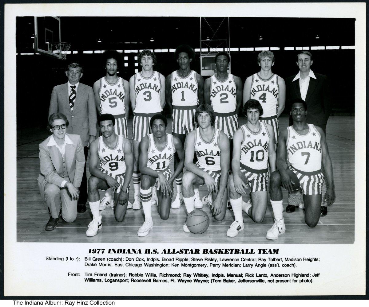 Photo Of 1977 Indiana High School All Star Basketball Team