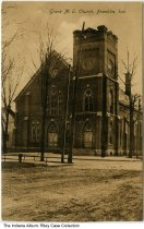 Image of Grace Methodist Episcopal Church, Franklin, Indiana, ca. 1910 -