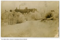 """Image of Postcard of Kneipp Sanitarium in winter, Rome City, Indiana, 1910 - This postcard has the caption """"Kneipp San. 12-12-1910."""""""