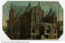 Image of Postcard of Public Library, South Bend, Indiana, ca. 1910