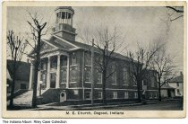 Image of Methodist Episcopal Church, Osgood, Indiana, 1935 - Postmarked 1935.
