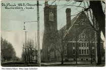 Image of St. Paul Methodist Episcopal Church, Rushville, Indiana, ca. 1913 -  Postmarked August 23, 1913.