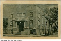 Image of First Methodist Church, Hagerstown, Indiana, ca. 1945 - Postmarked January 1945.