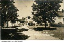 Image of Dairy Barn at Methodist Memorial Home, Warren, Indiana, ca. 1940 - Postmarked 1942.