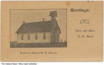 Image of Robinson Chapel Methodist Episcopal Church, Grabill, Indiana, ca. 1920 -