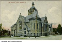 Image of First Methodist Church, Wabash, Indiana, ca. 1908 - Postmarked 1908.
