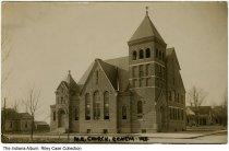 Image of Methodist Episcopal Church, Geneva, Indiana, ca. 1908 - Postmarked 1908.