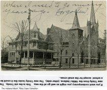 Image of Trinity Methodist Episcopal Church and Parsonage, Elkhart, Indiana, ca. 1908 - Postmarked 1908.