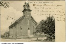 Image of Methodist Episcopal Church, Alexandria, Indiana, ca. 1906 - Postmarked 1906.