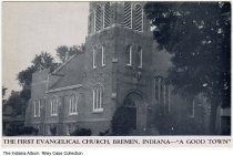 Image of First Evangelical Church, Bremen, Indiana, ca. 1915 -