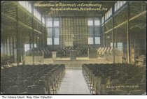 Image of Tabernacle interior, Battle Ground, Indiana, ca. 1913 - Postmarked 1913.