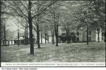 Image of Hotel on Methodist camp grounds, Battle Ground, Indiana, ca. 1930 - Hotel on Methodist Camp meeting grounds.