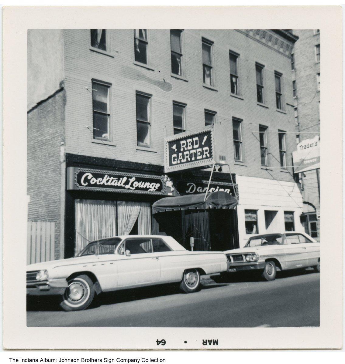 Red Garter Cocktail Lounge Fort Wayne Indiana 1965