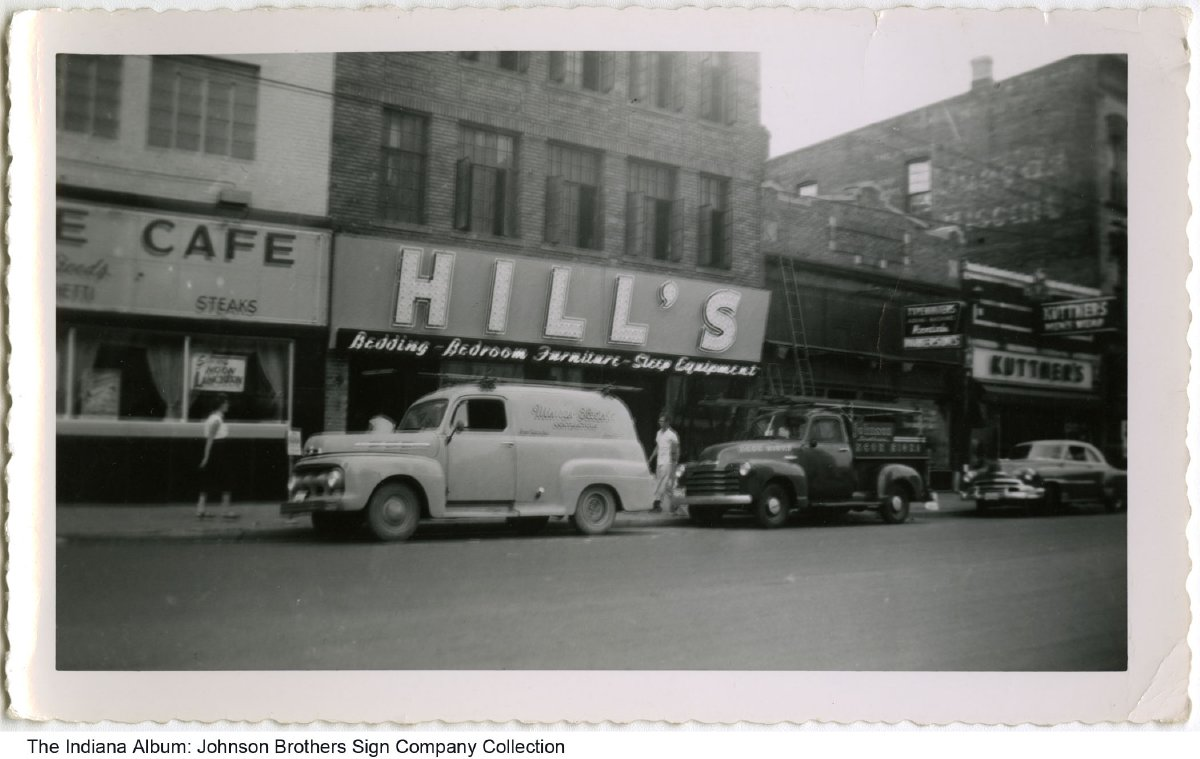 Furniture stores fort wayne indiana - Hill S Furniture Store Fort Wayne Indiana Ca 1950 The Johnson Brothers Sign Company Truck Is Parked In Front Of The Store As Is A Truck For Minear