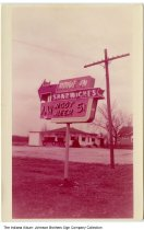 Image of Drive In and A & W Root Beer stand neon sign, Indiana, ca. 1960 - This sign for an A & W Root Beer Drive-In was created by Johnson Brothers Sign Company of South Whitley.