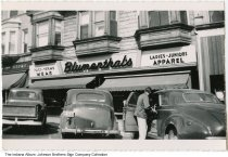 Image of Blumenthal's Clothing store, Columbia City, Indiana, ca. 1950 -