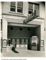 Image of Tivoli Theater, Indiana, 1947 - The movie advertised is The Farmer's Daughter, released in 1947.